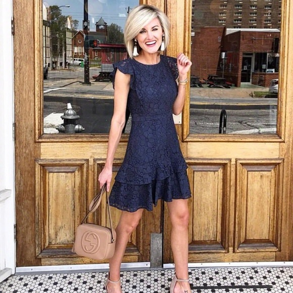 LOFT Dresses & Skirts - Navy Lace Dress